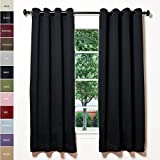 ChadMade Solid Thermal Insulated Blackout Curtains Drapes Antique Bronze Grommet/Eyelet Black 52W x 96L Inch (Set of 2 Panels) Review