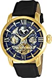 Invicta Men's 'Objet d'Art' Automatic Stainless Steel and Leather Casual Watch, Color:Black (Model: 22651)