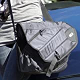 Powerbag Messenger Bag with Battery for Charging Smartphones, Tablets and eReaders - Grey