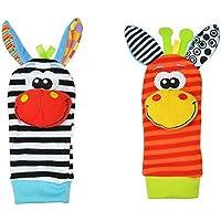 Hosairen Calcetines para Bebé, con Juguetes, Adecuado para bebé 0-6 Meses, Sonajeros incorporados
