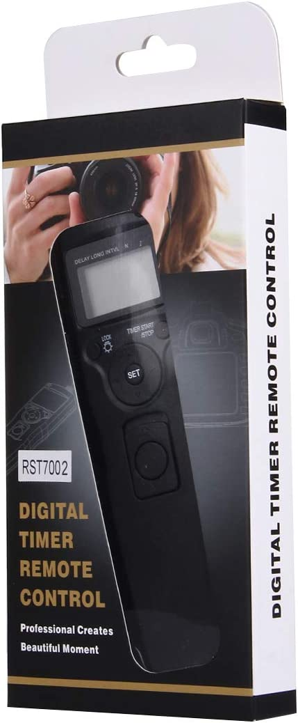 Black Camera /& Photo Accessories RST-7002 LCD Screen Time Lapse Intervalometer Shutter Release Digital Timer Remote Controller with C8 Cable for Canon 1D//1DS//50D//40D//30D//20D//10D//5D//5D//7D Camera