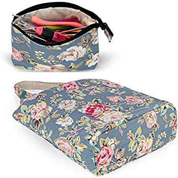 Sheep Yarn Storage Tote for Yarn Knitting Needles or Other Knitting Supplies Yarwo Knitting Bag with Small Zipper Pouch