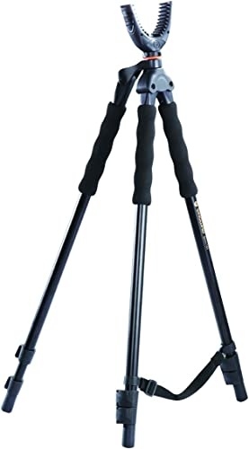 Vanguard Quest T62U Shooting Stick. Tripod, Bi Pod, Gun Pod All In One With Removable U Shaped Yoke, Quick Flip Leg Locks, Foam Hand Grips