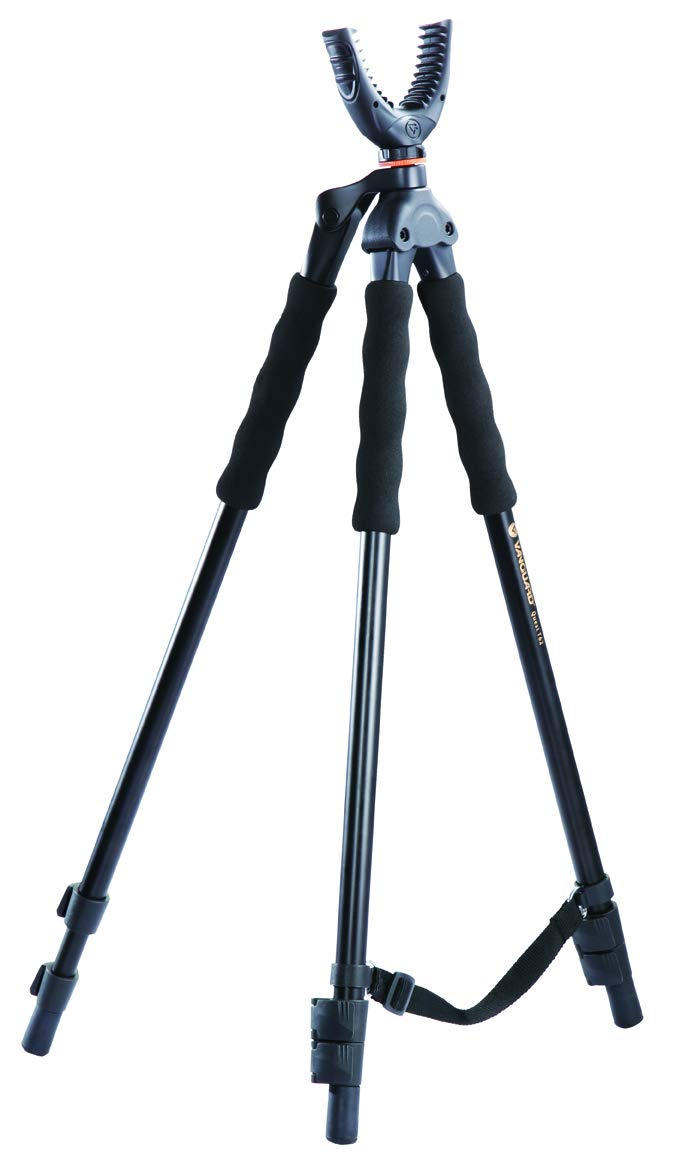 Vanguard Quest T62U Shooting Stick. Tripod, Bi Pod, Gun Pod All In One With Removable U Shaped Yoke, Quick Flip Leg Locks, Foam Hand Grips by Vanguard