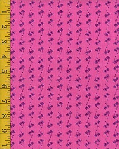 Quilting Fabric - Marcus Fabrics Dandy Days by Sarah J Maxwell 6539-0126 Dandi-lines - Hot Pink