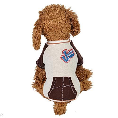 Pet Winter Cotton T-Shirt Laimeng_World Pet Clothes Puppy Round Neck Shirt Two-Legged Clothes Dog Warm Winter Clothes -