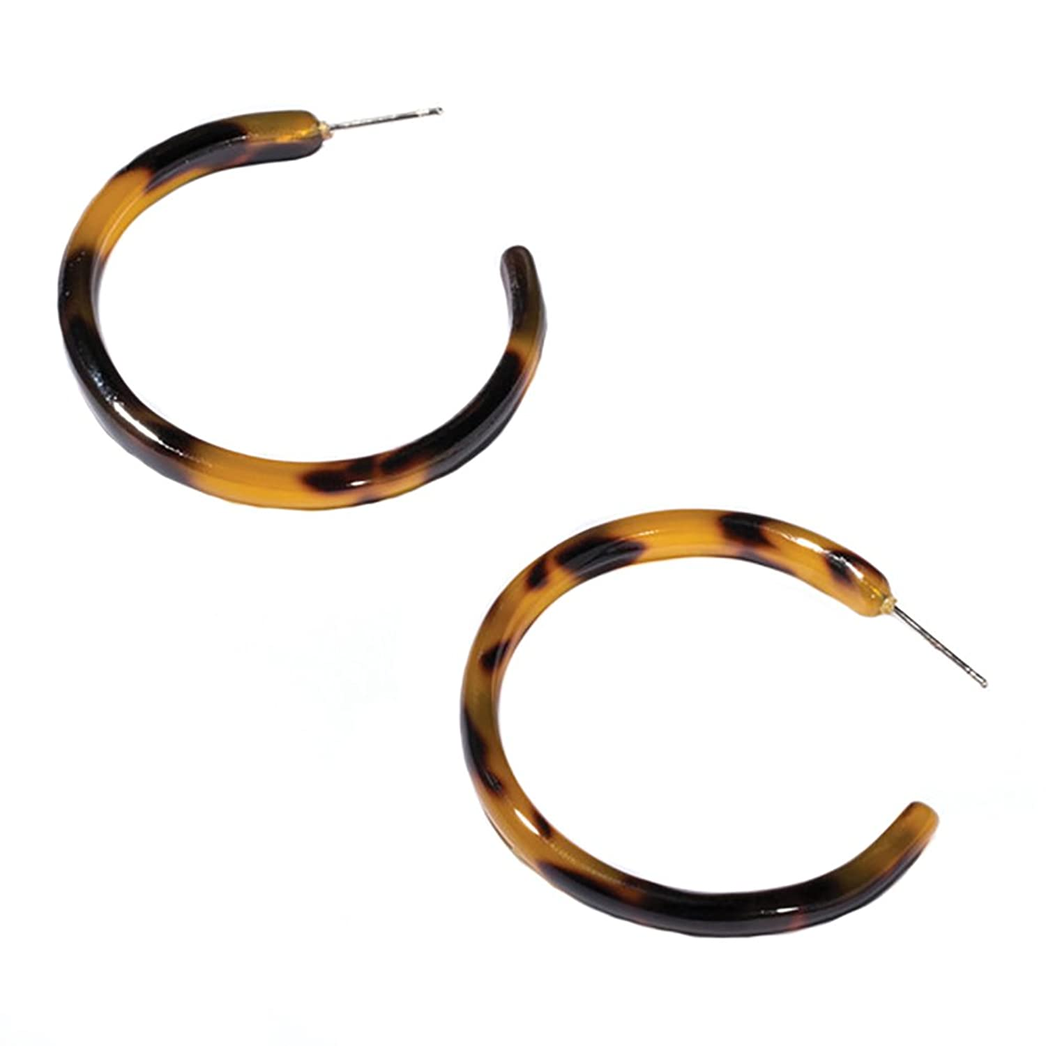 crescent home products image earrings tortoise