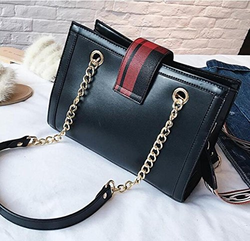 Bag Shoulder Fashion Woman Blackandgreengrid Shoulder Trend Dhfud Width Messenger Handbag Bag awE5xc6Hq