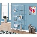 Monarch Bookcase, Silver/Clear Glass, 72″ For Sale