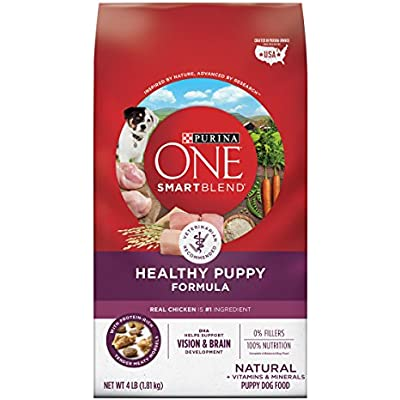 Purina ONE Natural Dry Puppy Food, SmartBlend Healthy Puppy Formula - (4) 4 lb. Bags
