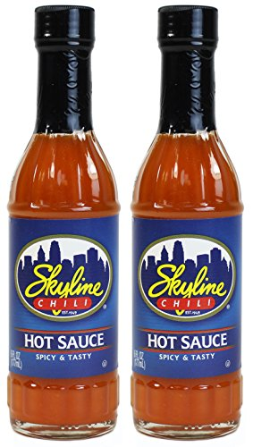 Hot Chili Sauce Recipes (Skyline Chili Hot Sauce, 6 Fl Oz (177mL) Glass Bottle (Pack of 2))