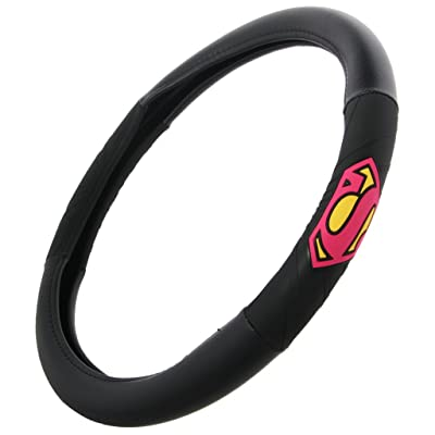 BDK WBSW-1701 Superman (Black Background) DC Comics Batman Steering Cover Superhero Characters for Standard Size Wheels (14.5 15 15.5): Automotive [5Bkhe0915065]