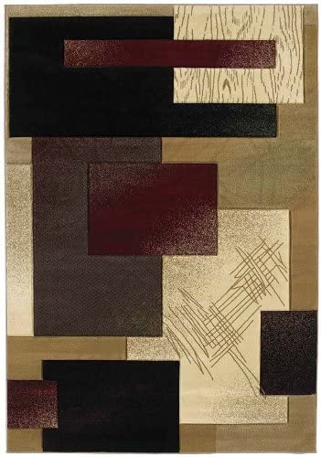 United Weavers of America Contours Collection Mondavi Heavyweight Heatset Olefin Rug, 7-Feet 10-Inch by 10-Feet 6-Inch, Burgundy