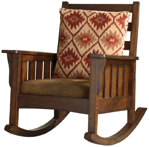 (Furniture of America Oria Rocking Chair, Dark Oak)