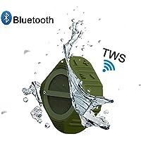 Outdoor Bluetooth Speakers, Sunany S8 Portable Wireless ipx7 Waterproof 5W Speaker TWS 12 Hours Play Built in Mic Stereo Speaker Shower Beach Hiking