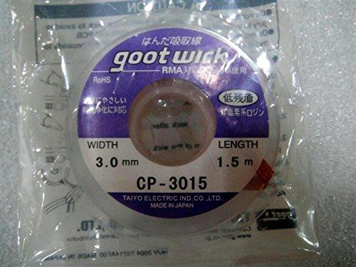 Goot CP-3015 3.0mmx1.5m Resoldering welding Wick wire RMA BGA IC PCB Chipset reballing Braid wash Flux Remover Cleaner