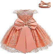 LZH Baby Girls Party Dress Kids Toddler Sequin Tutu Rainbow Birthday Wedding Gown with Headwear