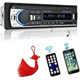 Car Stereo, Car Stereo with Bluetooth Single Din In-Dash Car Radio Receiver Wireless Remote Car Stereo Receiver , MP3/USB/SD/AUX/FM Car Stereos, Remote Included