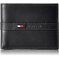 Tommy Hilfiger Black Leather For Men - Bifold Wallets