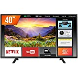 "Panasonic TC-40FS600B Smart TV LED 40"" Full HD, Conversor Digital, 2 HDMI, 1 USB, Bluetooth, Wi-Fi, Preto (Black)"