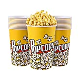 MyLifeUNIT Popcorn Boxes, 64 OZ Paper Popcorn Containers for Party and Movie Night (20 Pack)