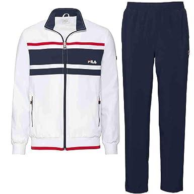 Fila Trainingsanzug Theo für Herren (weiß): Amazon.de: Sport & Freizeit