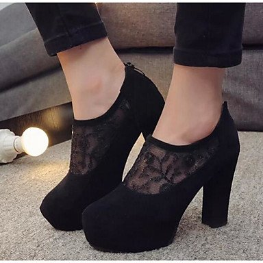 Basic ggx PU Black 3 3 Casual Pump 3in 4in Women's Basic camel Microfiber Synthetic LvYuan Spring Heels Summer PU Pump Camel q87dxqBC