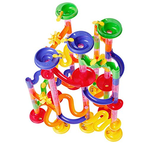 U.WILL Marble Run Toy - 105 Pcs Marble Game STEM Learning Toy, Educational Construction Building Blocks Toy, Marble Set Gift for Kids 4 5 6 + Year Old Boys Girls by U.WILL (Image #2)