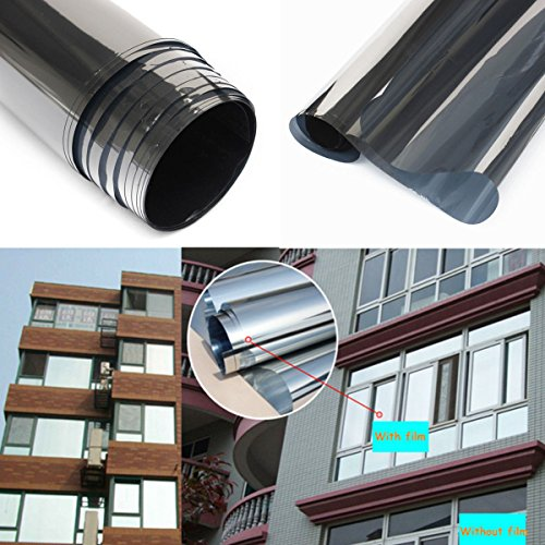 Oi Max Solar Reflective Window Film One Way Mirror Insulation Stickers ,78.7'19.6'