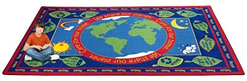 Kid Carpet FE720-44A Earth Educational World Nylon Area Rug 7'6 x 12' Multicolored [並行輸入品]   B07HLQX1VM
