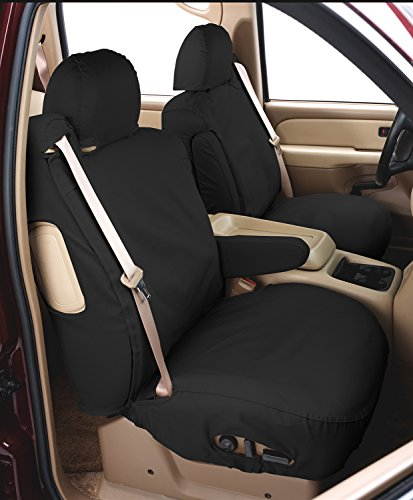 Covercraft SeatSaver Front Row Custom Fit Seat Cover for Select Jeep Wrangler Models - Polycotton (Charcoal) (Cover Seat Jeep Covercraft)
