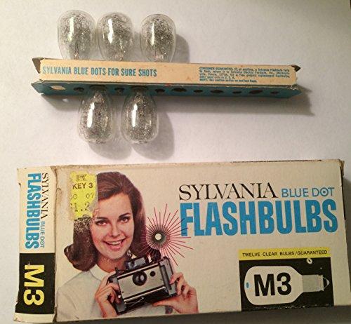 Sylvania Flashbulbs - Sylvania M3 Blue Dot Camera Flashbulbs, (Pack of 12)