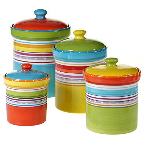 (Certified International 25630 4 Piece Mariachi Canister Set, Multicolor)