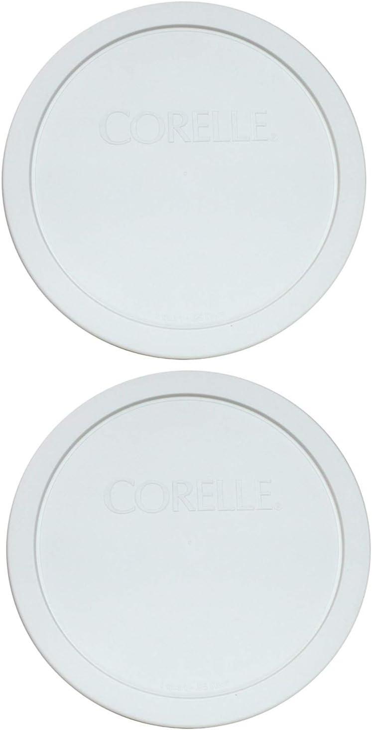 Corelle White 1.0 Quart - .95 Liters Plastic Cover 323-PC (2)
