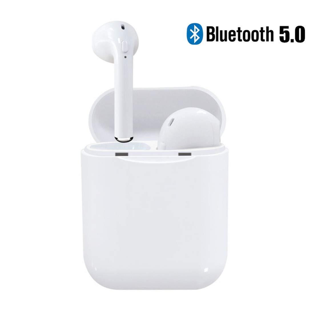 Mini estaci/ón de Carga reducci/ón de Ruido de micr/ófono HD Compatible con Android//iOS y Todos los Dispositivos Bluetooth est/éreo 3D Auriculares inal/ámbricos Auriculares Bluetooth 5.0