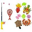 Baosity 4サイズ選べる 幼児/子供 木製 磁気 釣竿 魚釣りロッド 贈り物 ふり遊びおもちゃ 釣りプレイセット - 10個の商品画像