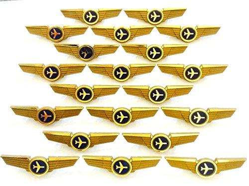 Aviator Kids Airplane Pilot Wings Plastic Pins Pinbacks Badges Lot Of 20 Pins - Kid Airplane Wing