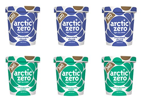 Arctic Zero Chocolate Chunk, Mint & Cookies Bakery and Dessert Gifts, 16 Fluid Ounce (pack Of 6) by Arctic Zero