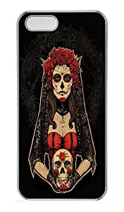 cincinnati reds case's Shop IMARTCASE iPhone 5S Case, Day Of The Dead Lady In Red By Design PC Hard Case Cover for Apple iPhone 5S Transparent 2250664M53780366