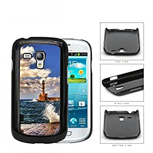 Seaside Lighthouse With Water Splashing View Hard Plastic Snap On Cell Phone Case Samsung Galaxy S3 SIII Mini I8200