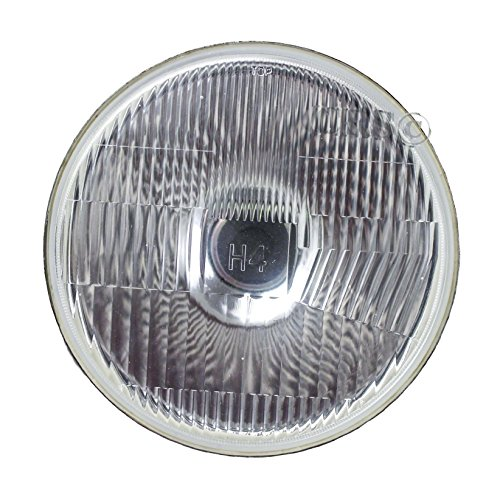 "JC Performance 7"" Round H4 Conversion Powdercoated Headlight Diamond Replace H6014 H6024"