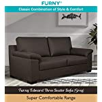Furny Edward 3 Seater Sofa (Grey)