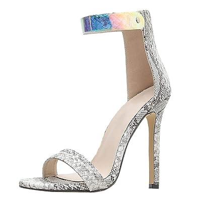 7f7a191f00542 luoluoluo Escarpins à Talons Hauts - Escarpins Vernis Talons Aiguille pour  Femmes - Chaussures à Talons