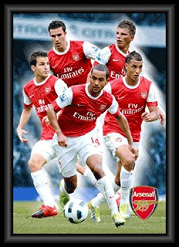 Posters: Football 3D-Posters (Framed) - Arsenal FC, Players 10/11 3D Poster Framed (28 x 20 inches)