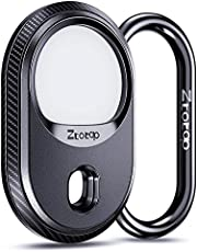 Ztotops AirTag Case for Apple AirTag Keychain, Airtag Anti-Lost Holder Hanging on Backpack Key Pet Collar(2021) - Black