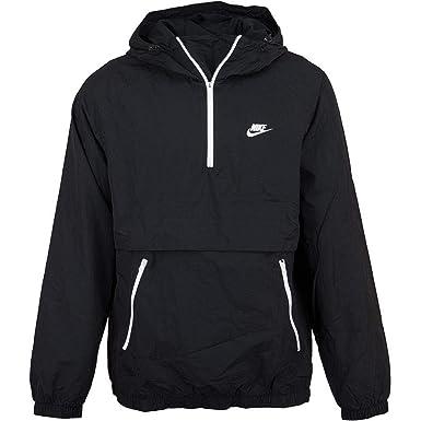 Nike Windbreaker Woven Half Zip schwarzweiß: