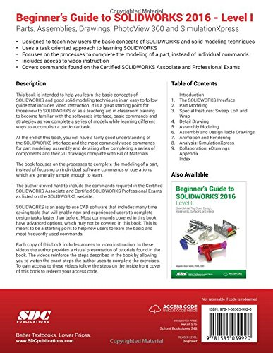 Beginners Guide To Solidworks 2016 Level I Alejandro Reyes