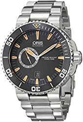 Oris Men's 74376734159MB Aquis Analog Display Swiss Automatic Silver Watch