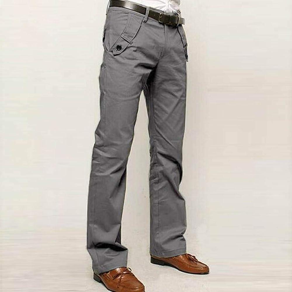 Pantalones Hombre Moda Pop Color sólido Casual Negocios Pants ...