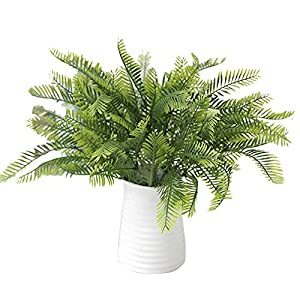 Loweryeah Artificial Boston Fern Bush Plant Shrubs Greenery Bushes 3